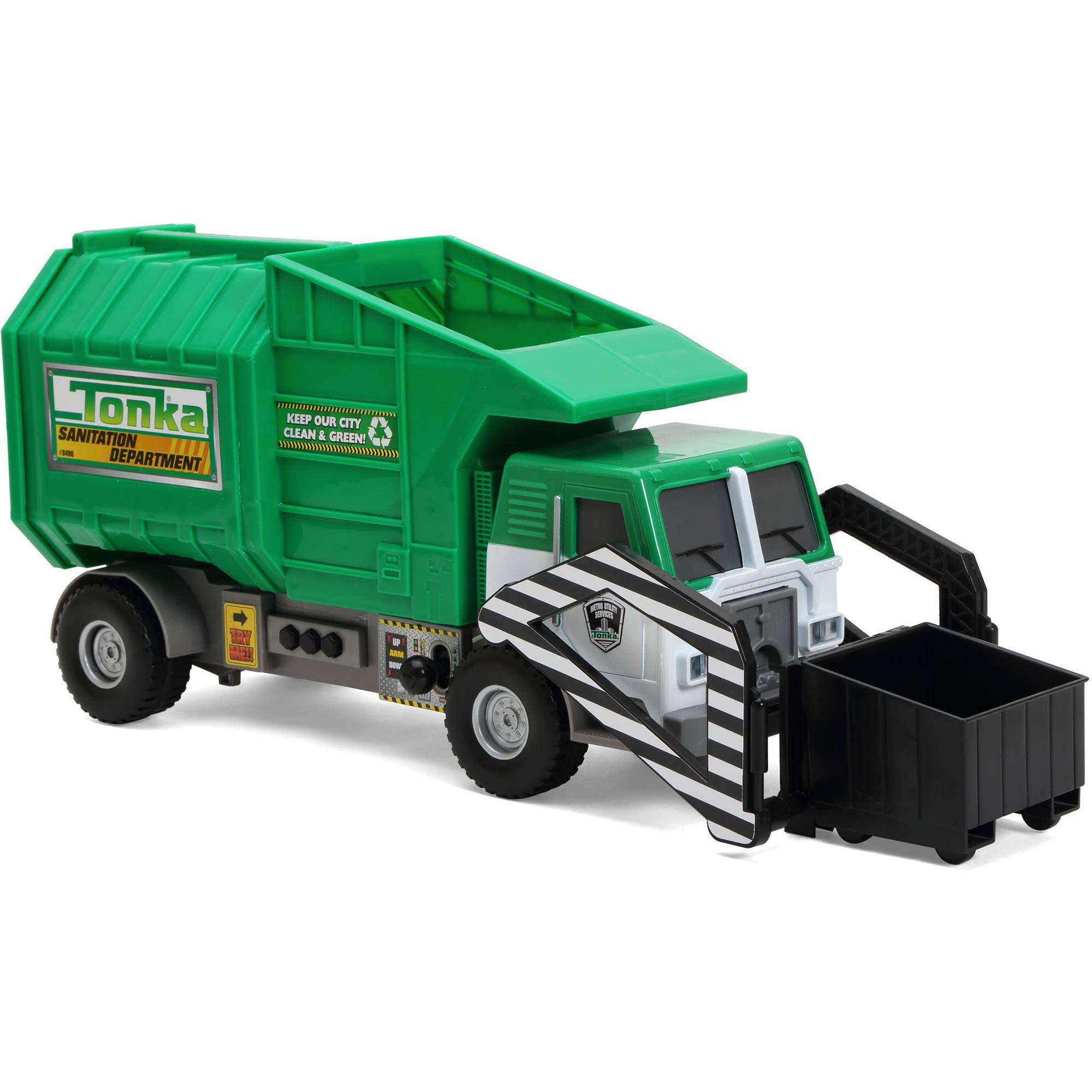 Funrise Toy Tonka Mighty Motorized Garbage Truck