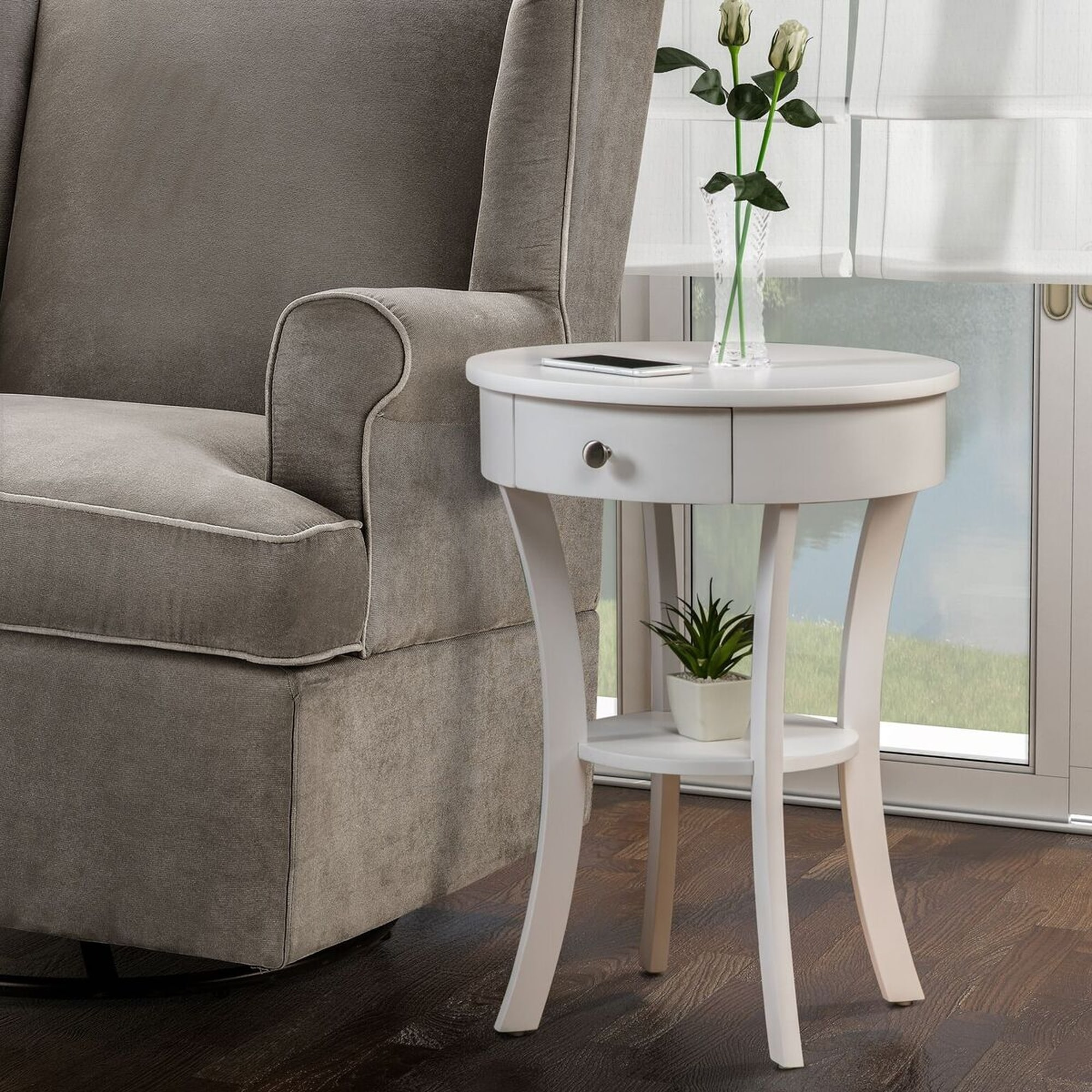 Convenience Concepts Classic Accents Schaffer End Table, Multiple Finishes