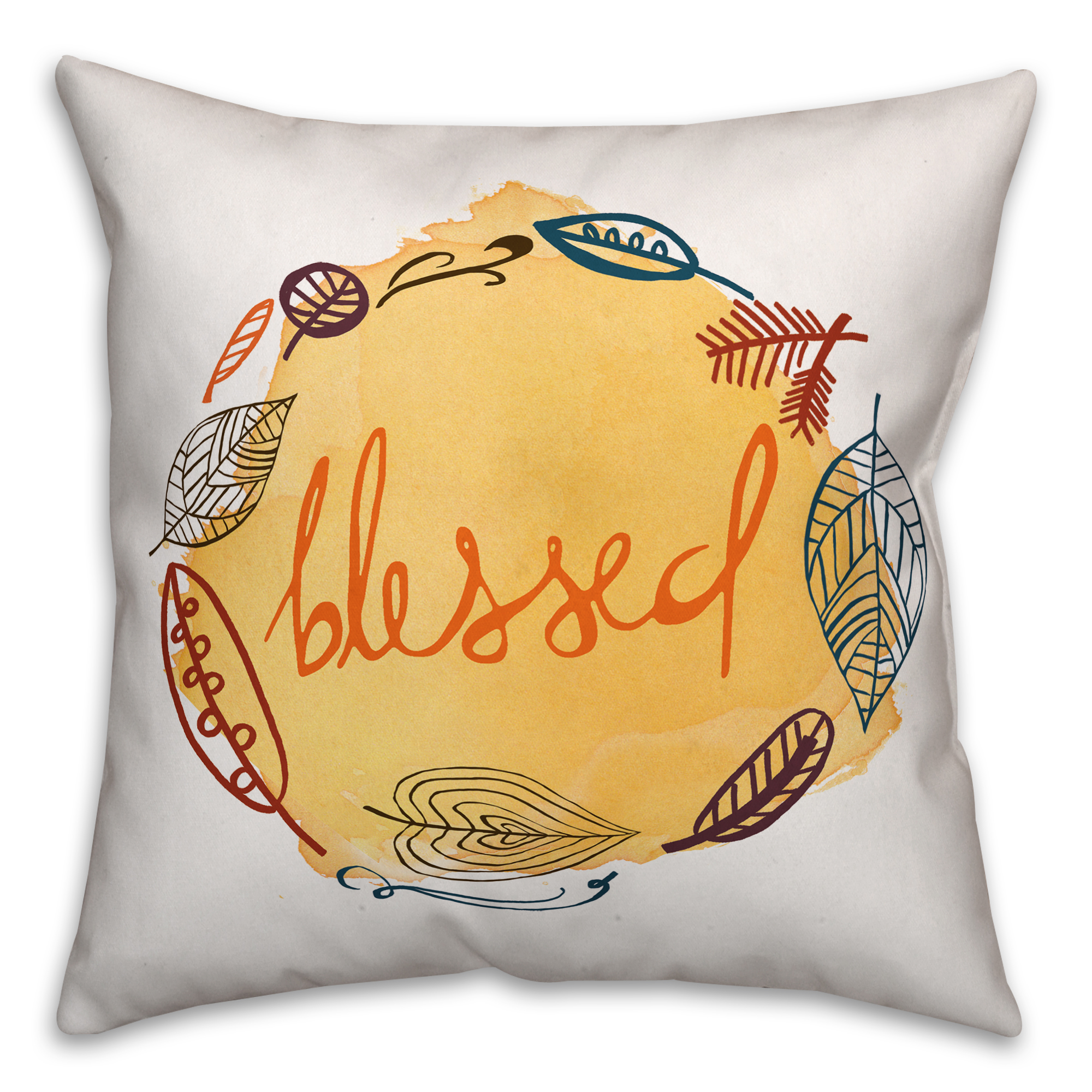 Harvest Blessed 18x18 Spun Poly Pillow Cover