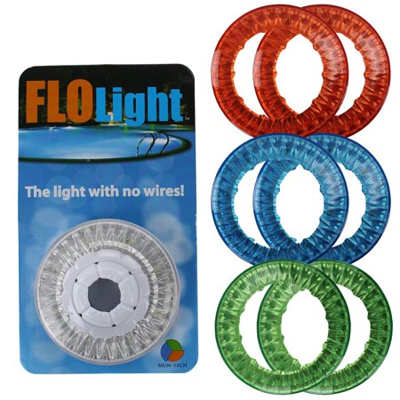 FloLight LED White Wireless Above Ground Swimming Pool Light + 6 Colored