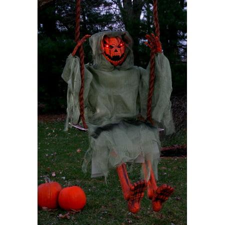 Light Up Swinging Dead - Pumpkin](Day Of The Dead Pumpkin)