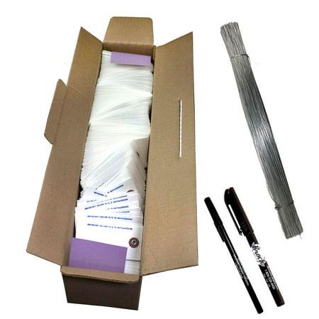 1000 Pc Box Blank White Tyvek Tags 3 3/4
