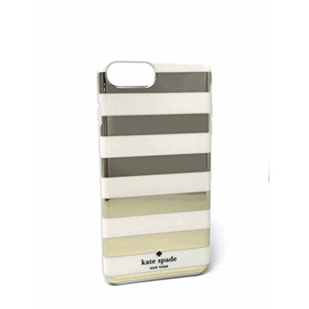 Kate Spade New York Candy Stripe Gold Cream Flexible Hardshell Case for iPhone 8 Plus & iPhone 7 - Kate Spade Stripes