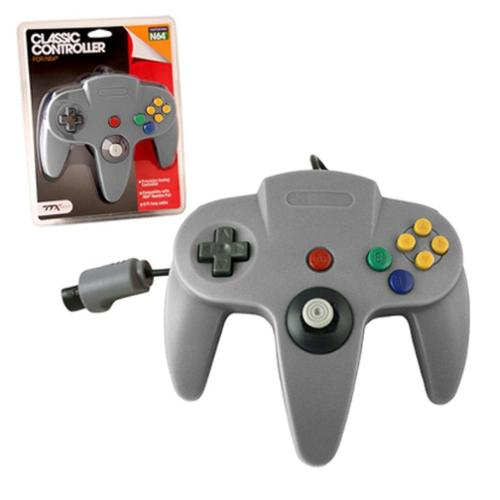 TTX Tech Wired Controller For Nintendo 64 System Gray