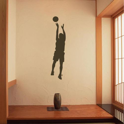 Jumping Basketball Player Vinyl Wall Decal
