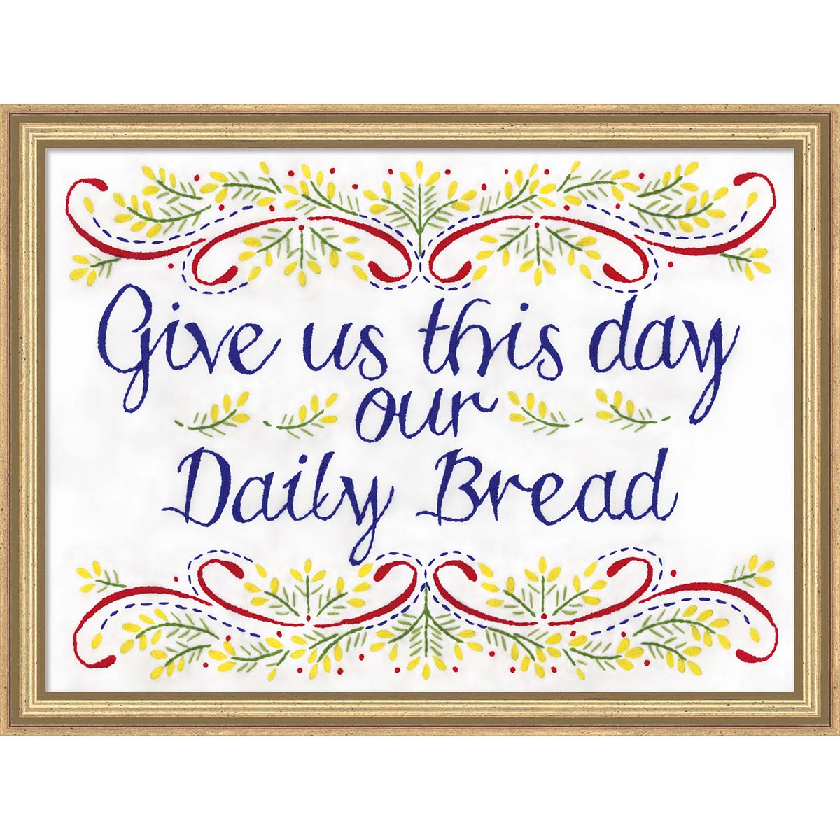 Herrschners® Our Daily Bread Picture Stamped Embroidery Kit