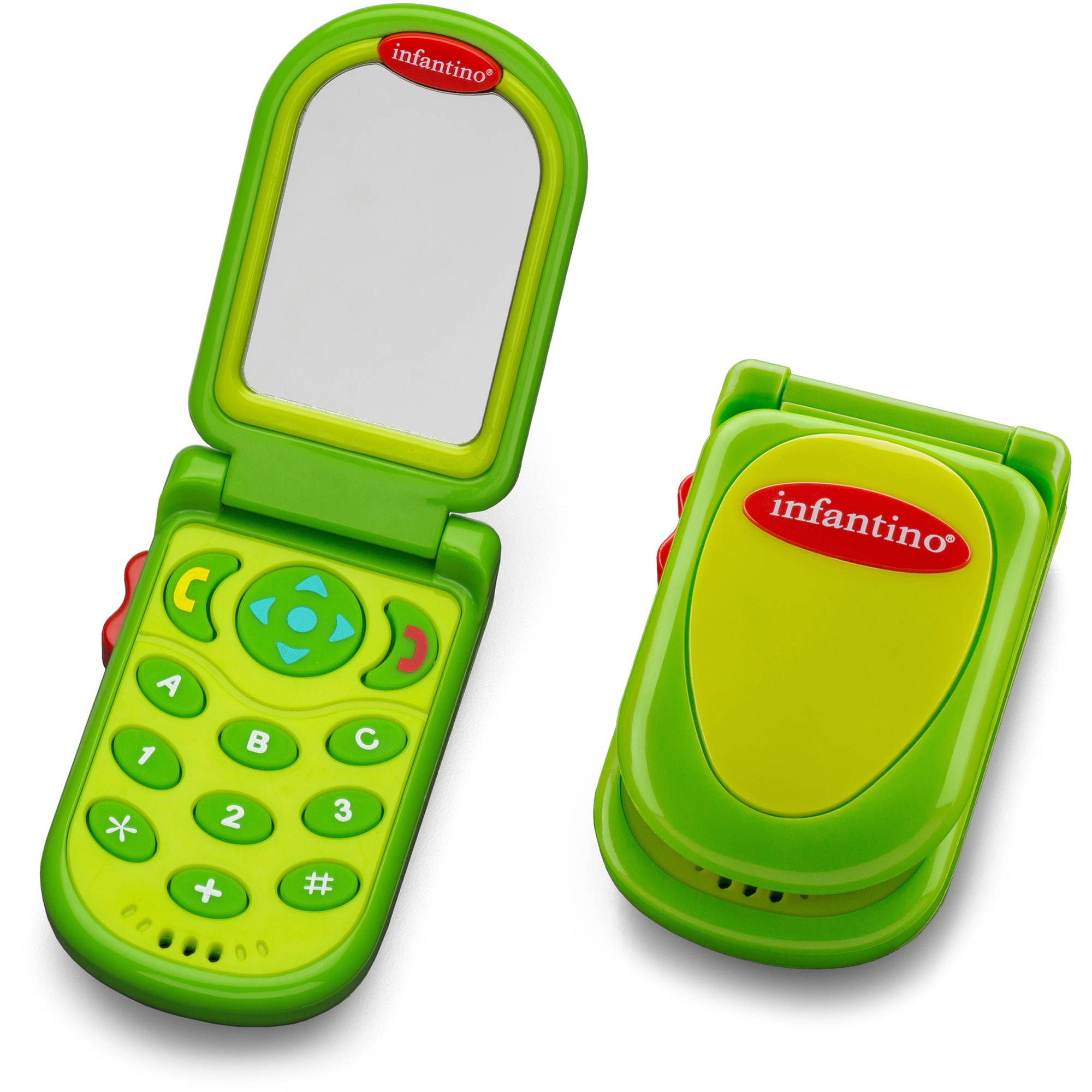 Infantino Flip & Peek Fun Phone, Gray