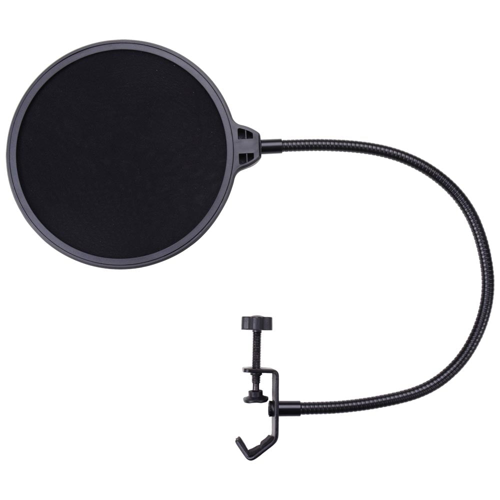 Microphone Pop Filter for Condenser Microphone Mic Wind Screen Mask Shield Mount Gooseneck by Yescom