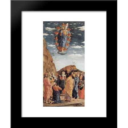 The Ascension, left hand panel from the Altarpiece 20x24 Framed Art Print by Mantegna, Andrea Left Hand Panel