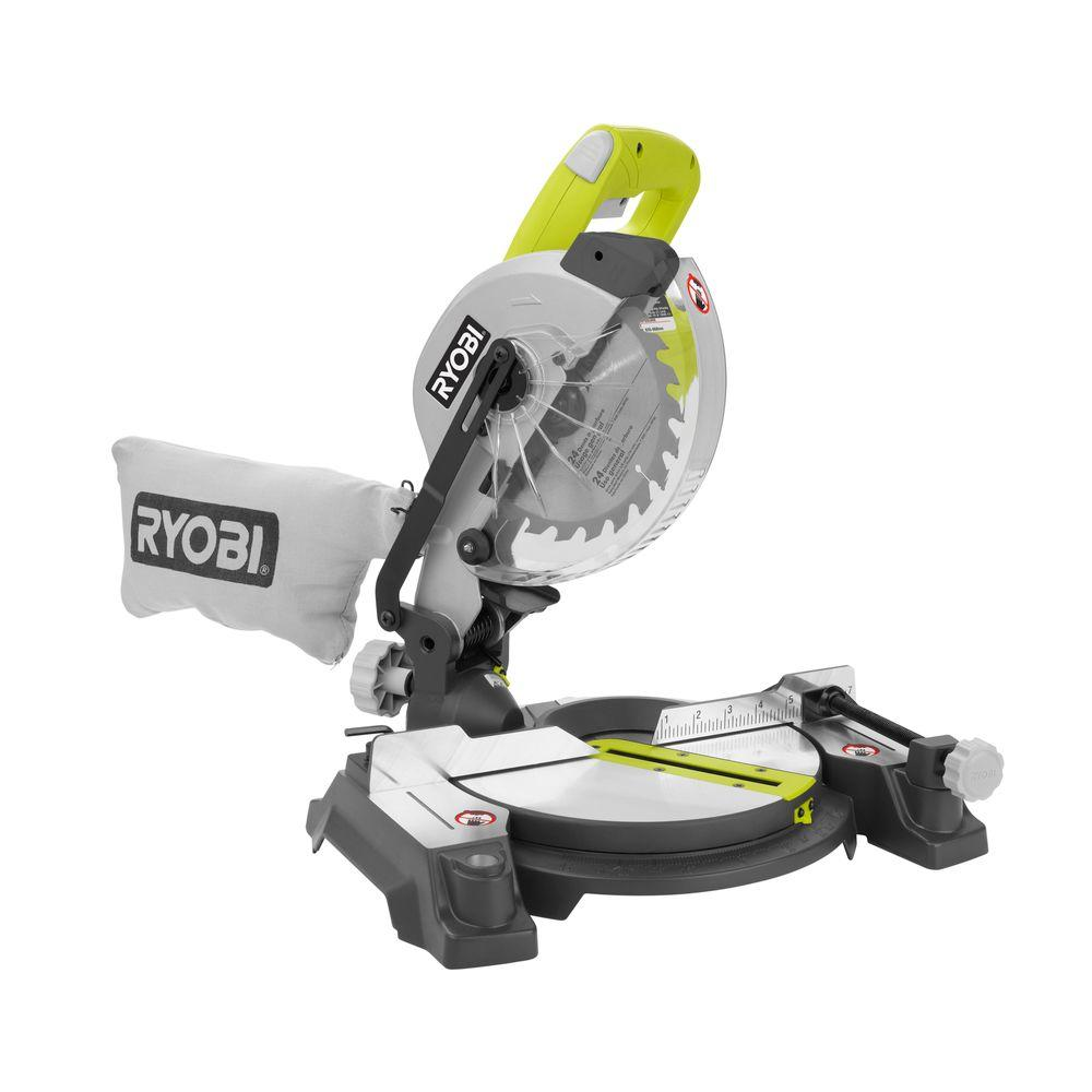 Ryobi 9 Amp 7-1 4 in. Compound Miter Saw with Laser TS1143L by