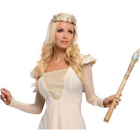 Adults Womens Deluxe Gold Wizard of Oz Glinda Good Witch Costume ...