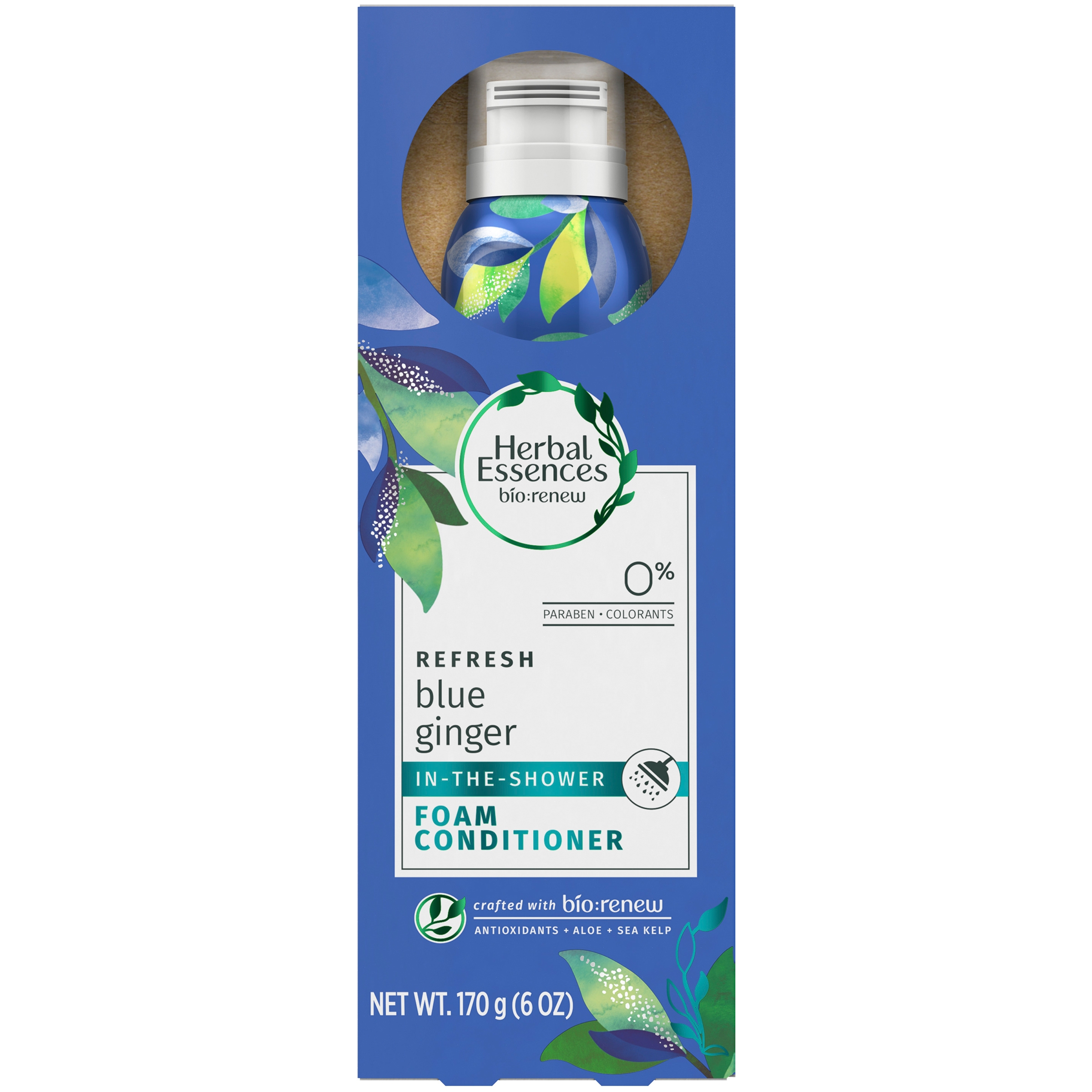 Herbal Essences Bio:Renew Blue Ginger In-The-Shower Foam Conditioner, 6 oz