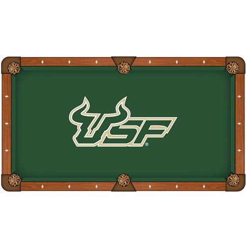 NCAA 8' Pool Table Cloth by Holland Bar Stool - USF Bulls