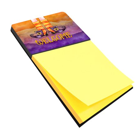 Halloween Welcome Witches Feet Sticky Note Holder Bb7459sn