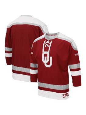 Oklahoma Sooners Colosseum Big & Tall Mr. Plow Hockey Jersey Sweater - Crimson
