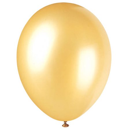 Pearlized Latex Balloons, Champagne Gold, 12in, 50ct (Red Balloons)
