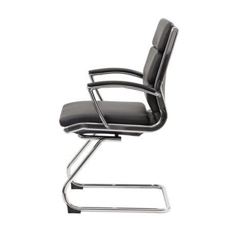 Boss Office CaressoftPlus Executive Guest Chair in Black - image 1 of 6