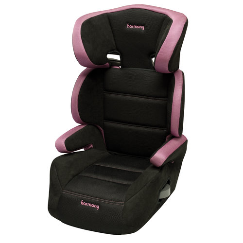 Dreamtime Deluxe Comfort Booster Car Seat, Black/Pink