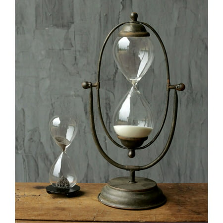 3R Studios Decorative Metal and Glass Thirty Minute Hourglass