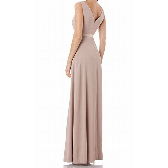 4b46532f127 Kay Unger Dresses - Kay Unger Women s V-Neck Ribbon Belt Gown Dress ...