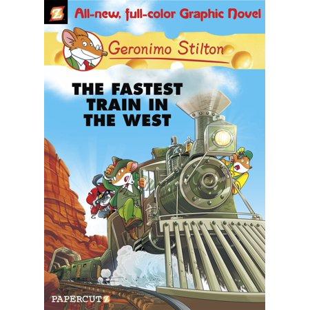 Geronimo Stilton Graphic Novels #13 : The Fastest Train In the