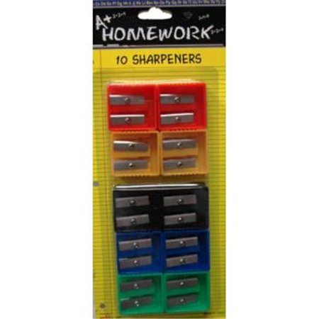 Duel Blades Pencil Sharpeners - 10 count (48 Units Included)