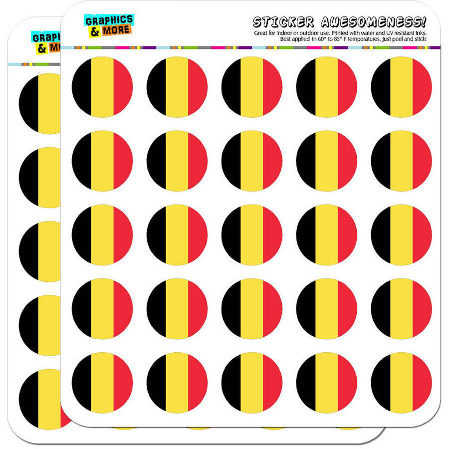 """Belgium National Country Flag 50 1"""" Planner Calendar Scrapbooking Crafting Stickers"""