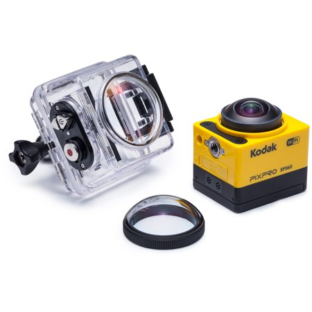 Kodak Pixpro Sp360 Action Camcorder With 1  Status Lcd And Electronic Image Stabilization Includes Aqua Sport Accessory Pack