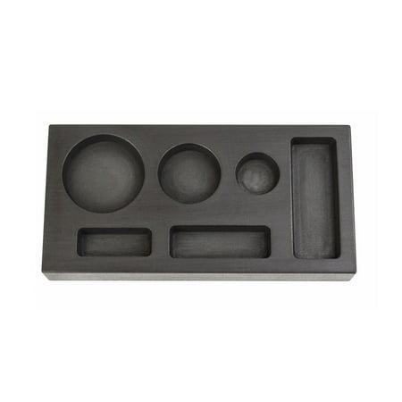 6 Cavity - 1/4, 1/2, 1 Troy Ounce Gold Multi-Cavity Combo Graphite Ingot Mold -