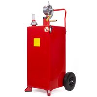 Stark 30Gal Gas Caddy Storage Tank Portable with Rotary Pump and Hose