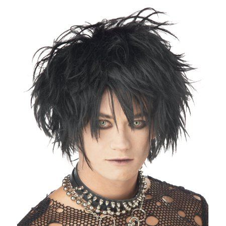 Midnight Fiend Wig Adult Halloween Accessory (Midnight Syndicate Halloween Music Collection)