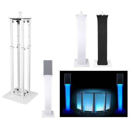 (1) Rockville White Adjustable Totem Stand For QSC K10.2 10
