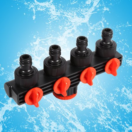 Plastic Drip - Hose Pipe Splitter Plastic Drip Irrigation Watering Agricultural 4 Way Tap Connectors Garden, tap quick connector,4 way tap connectors