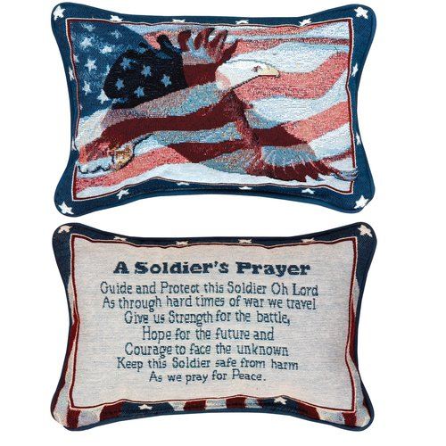 Manual Woodworkers & Weavers A Soldier's Prayer Word Lumbar Pillow