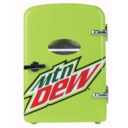 Mountain Dew 6-can Mini Fridge, MIS134MD, Green