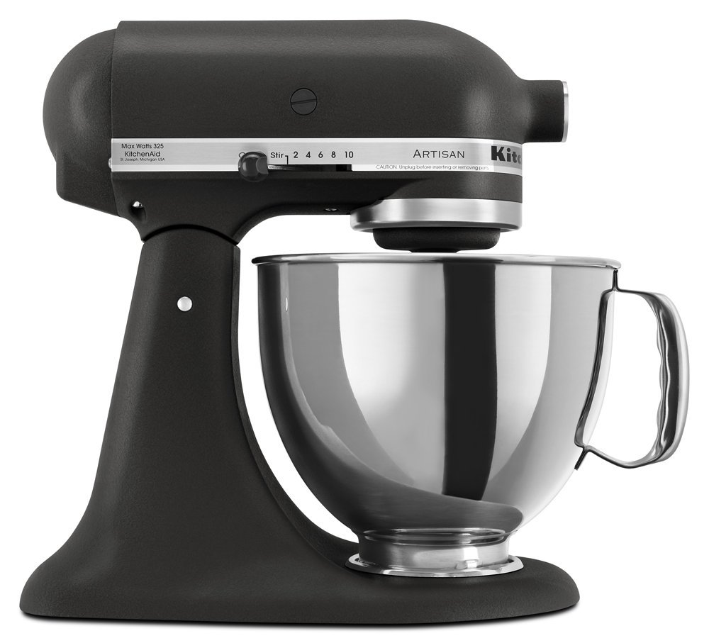 KitchenAid RR150BK Artisan Series 5-Qt. Stand Mixer-Imperial Black (CERTIFIED REFURBISHED)
