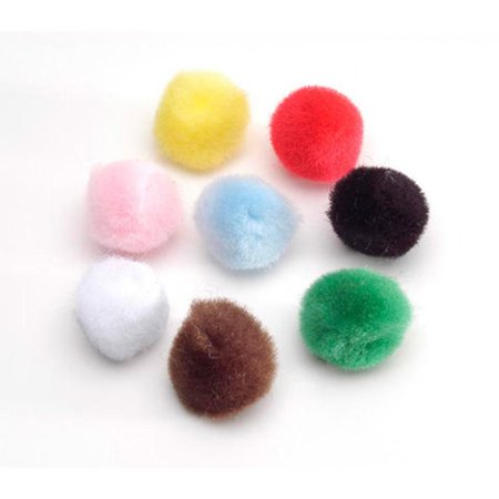 "0.5"" Set of 100 Fluffy Pom Poms"