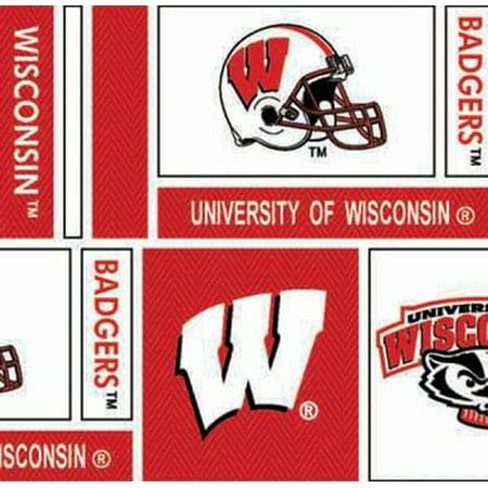University of Wisconsin Cotton Fabric Geometric Herringbone Design-Sold by the Yard - Linen Cotton Herringbone