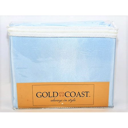 Gold Coast Satin Luxury Sheet Set in Blue - Twin