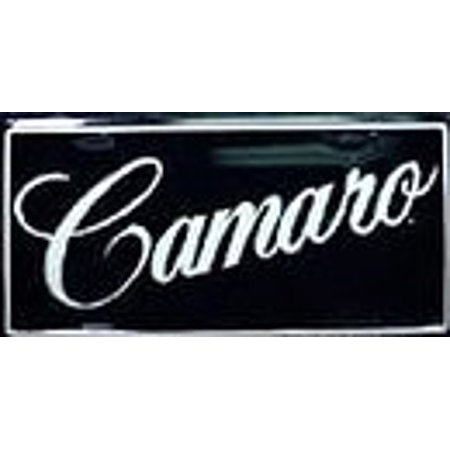 Chevrolet Chevy Camaro Embossed Aluminum Novelty License Plate Tag Sign - Flag Embossed License Plate