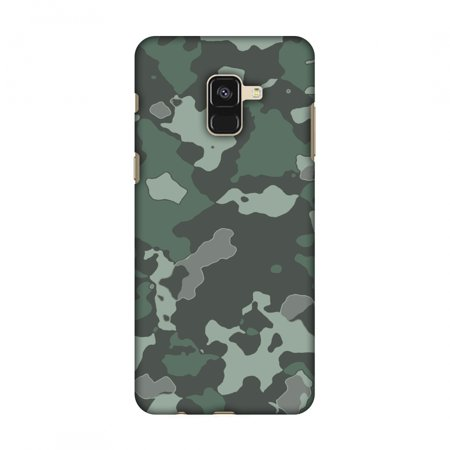 wholesale dealer 7d793 ba043 Samsung Galaxy A8 2018 Case - Camou- Amazon green, Hard Plastic Back Cover,  Slim Profile Cute Printed Designer Snap on Case with Screen Cleaning Kit