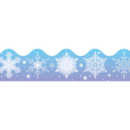 Snowflake Border (Frank Schaffer Publications/Carson Dellosa Publications Snowflakes Scalloped Classroom)