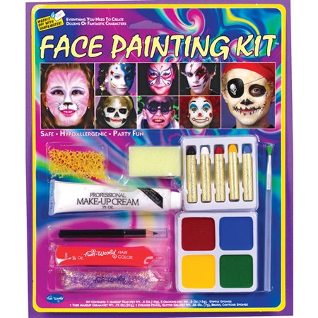 Party Face Painting Kit Halloween Accessory](Halloween Cat Face Painting Tutorial)