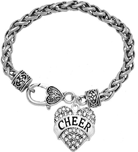 "Cheer"" Crystal Heart Bracelet, Safe-Hypoallergenic, Nickel, Lead, & Cadmium Free!"