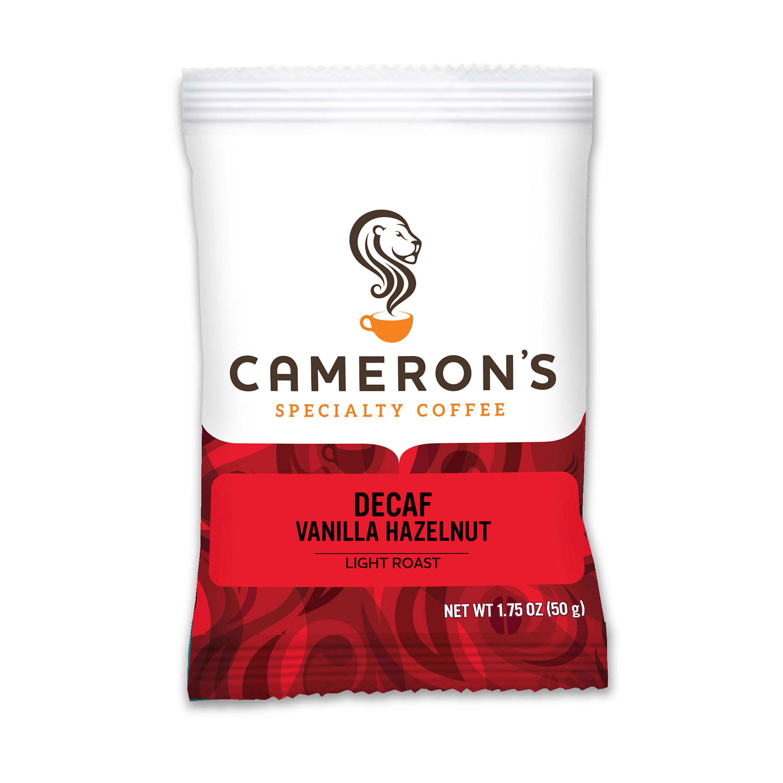 Cameron's Specialty Coffee Decaf Vanilla Hazelnut Ground, Portioned Packet, 1.75 oz