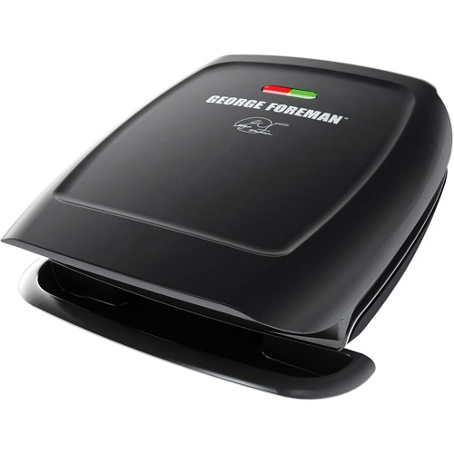 George Foreman 60-sq in 4 Serving, Classic-Plate Grill, Black, GR2060B