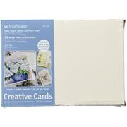 Strathmore Creative Cards, Full Size, Palm Beach White 50/Pkg.