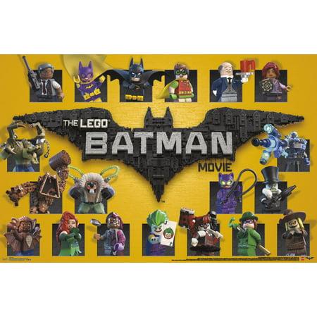Trends International Lego Batman Grid Wall Poster 22.375