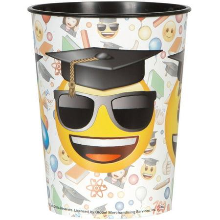Unique Industries Emoji Graduation Plastic Cup, 16 oz, 1ct for $<!---->