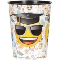 Unique Industries Emoji Graduation Plastic Cup, 16 oz, 1ct